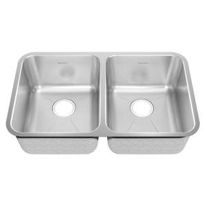 18.75 L x 9 W Undermount Double Bowl with Creased Bottom Kitchen Sink by American Standard