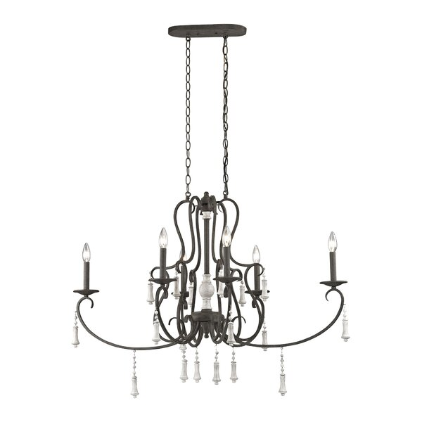 Pollitt 6-Light Candle Style Classic / Traditional Chandelier By One Allium Way