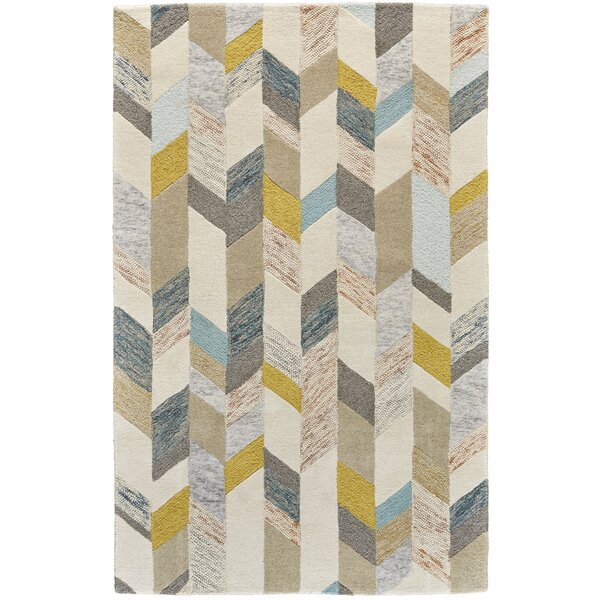Christine Hand-Tufted Gray/Gold Area Rug by Langley Street
