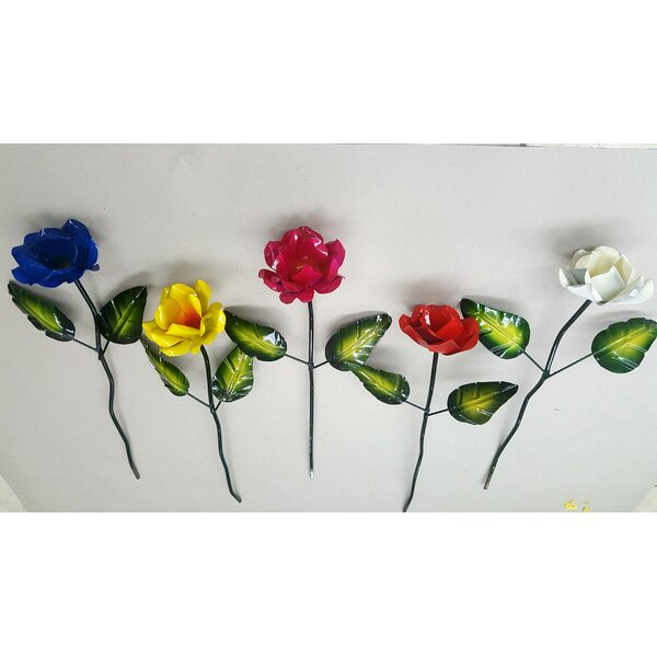 Auto Paint Rose Garden Stake (Set of 3) by LSG