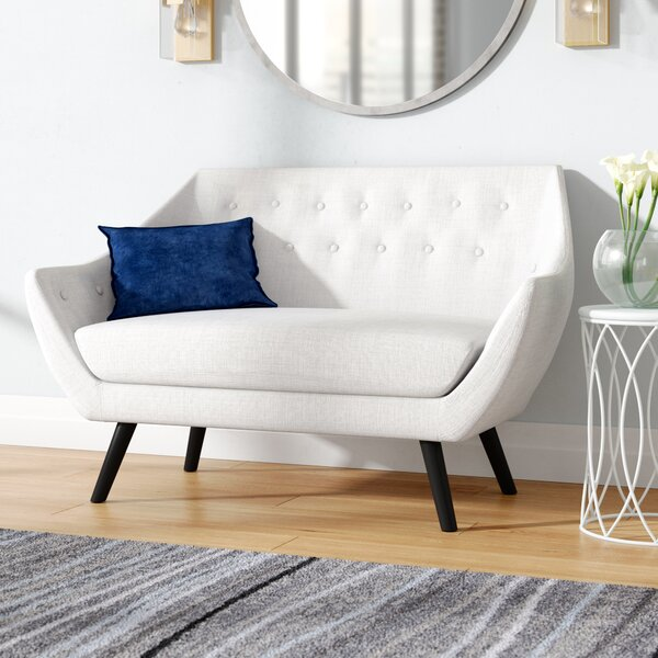 Modern Beautiful Salazar Loveseat by Orren Ellis by Orren Ellis