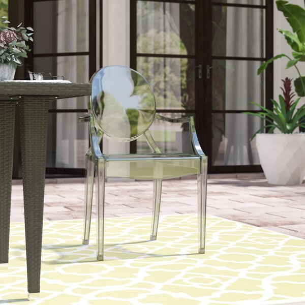 Bentlee Stacking Patio Dining Chair by Everly Quinn