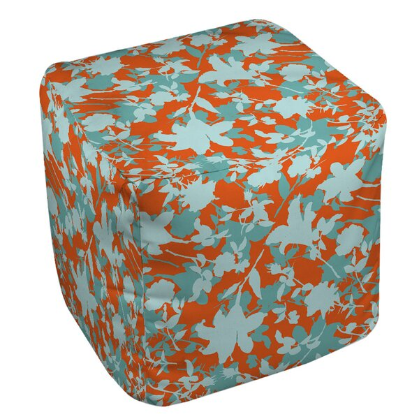 Chloe Floral Pouf by Manual Woodworkers & Weavers