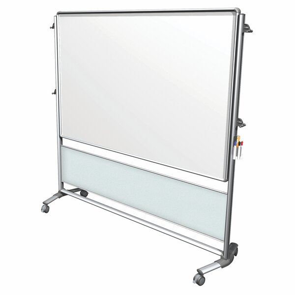 Ghent Nexus Idea Wall, Mobile 2-Sided Porcelain Magnetic Whiteboard by Ghent