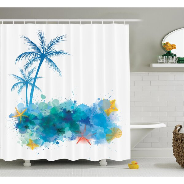 Coconut Palm Trees Shower Curtain by East Urban Home
