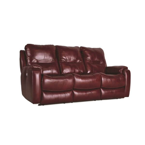 Purchase Online Royal Flush Leather Reclining Sofa by Southern Motion by Southern Motion