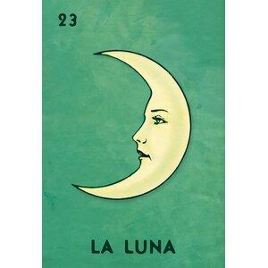 'La Luna Retro' Graphic Art Print on Canvas by Ebern Designs