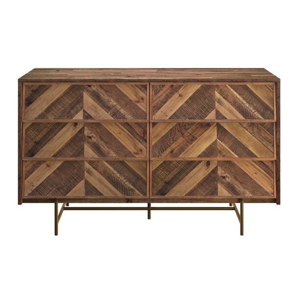 Bove 6 Drawer Double Dresser by Foundry Select
