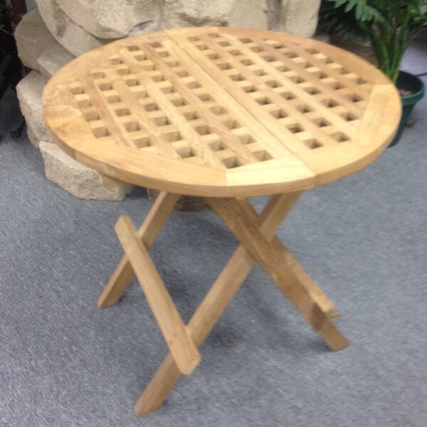 Folding  Solid Wood Bistro Table by D-Art Collection