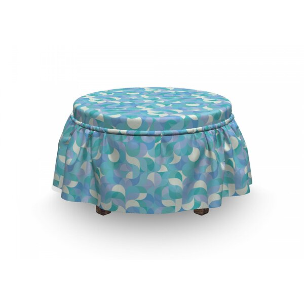 Contemporary Mosaic Motif Ottoman Slipcover (Set Of 2) By East Urban Home