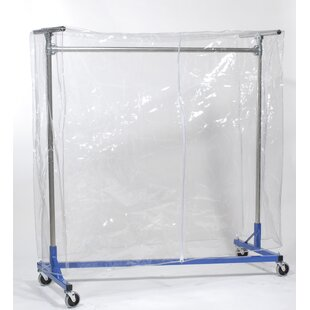 Best Z-Rack Clear Vinyl 72 H Garment Rack Cover With Zipper By Quality Fabricators
