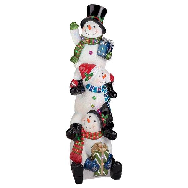 SnowBro Illuminated Snowman Statue by Design Toscano