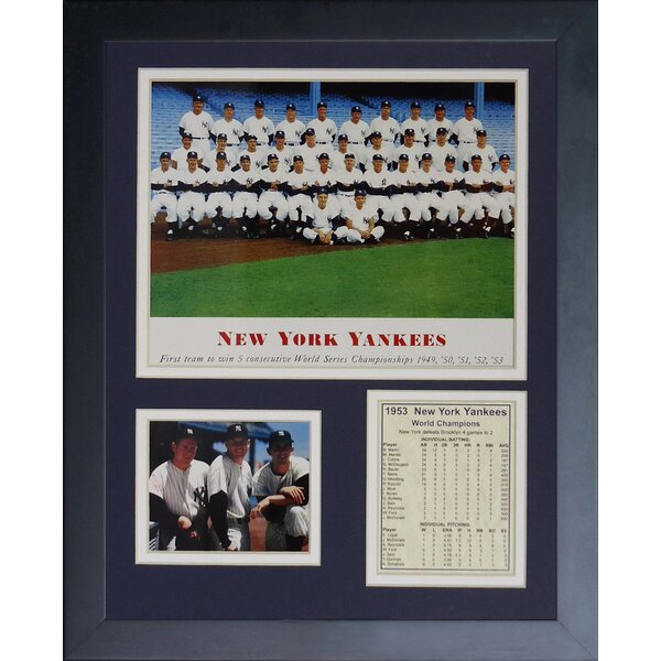 1953 New York Yankees Framed Memorabilia by Legends Never Die