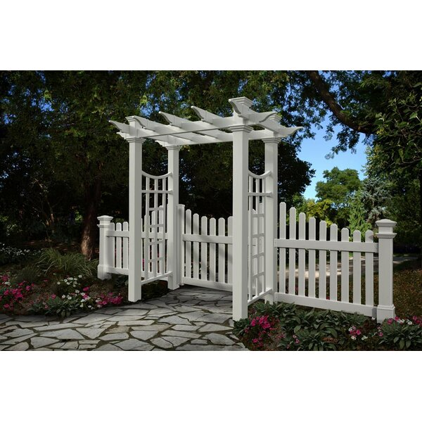 Fairfield Deluxe Vinyl Arbor by New England Arbors