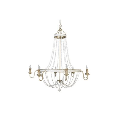 Corinna 8 light candle style chandelier
