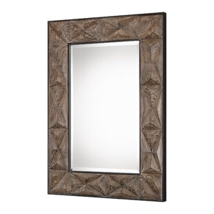 Union Rustic Rectangle Aged Wood Accent Mirror