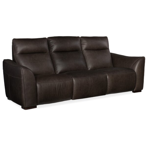 Athena Leather Reclining Sofa by Hooker Furniture