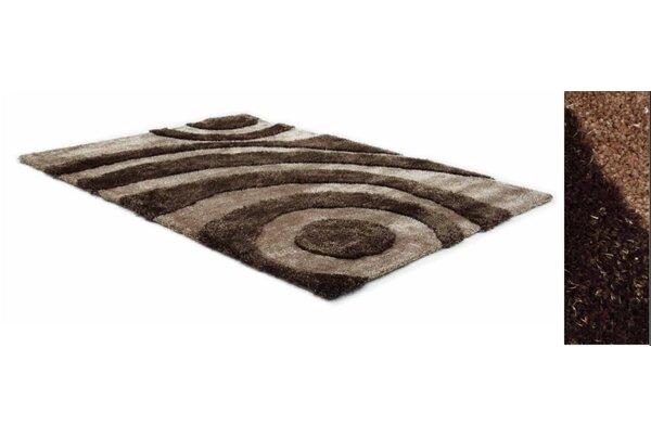 Two Tone Tan/Brown Area Rug by Creative Furniture
