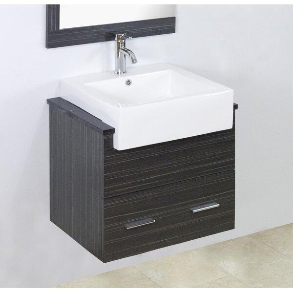 Mulberry Floor Mount 62 Double Bathroom Vanity Set
