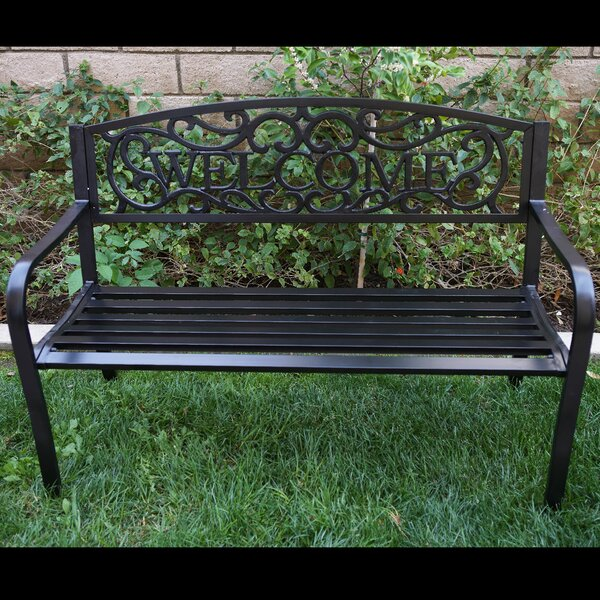 Blossoming Iron Garden Bench by Belleze