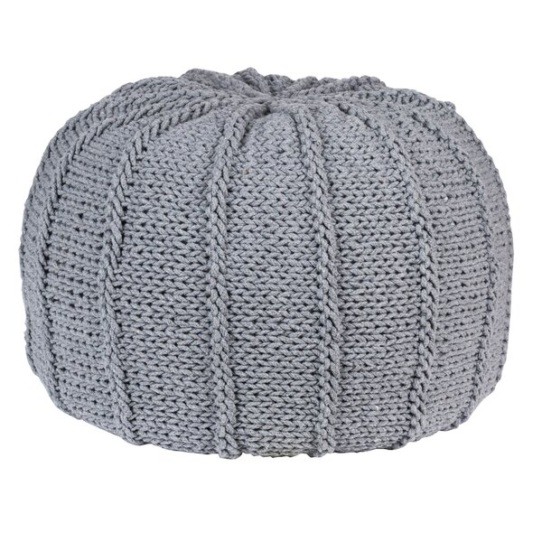 Thedford Knitted Pouf by Bungalow Rose