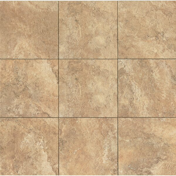 Forge 13 x 13 Porcelain Field Tile in Gold by Bedrosians