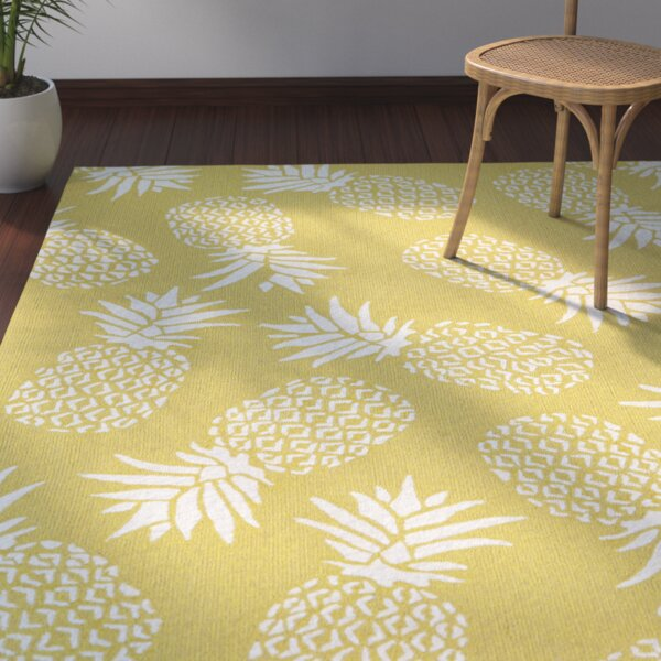 Brianna Handmade Gold Indoor/Outdoor Area Rug by Beachcrest Home