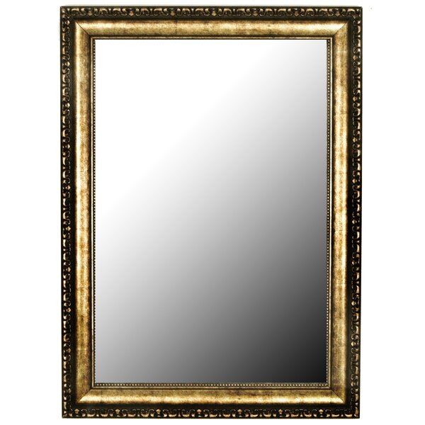 Kissling Beaded Silver Gold Traditional Accent Mirror