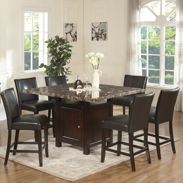 Heffington 7 Piece Counter Height Dining Set by Alcott Hill