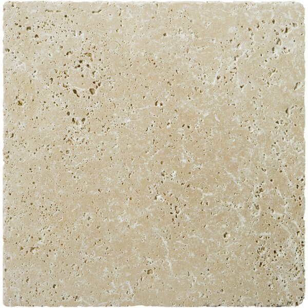 Natural Stone Fontane 16 x 16 Travertine Field Tile in Ivory Classic by Emser Tile
