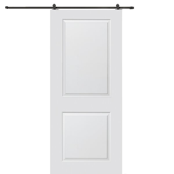 Carrara Smooth Surface Solid Panel MDF Interior Barn Door by Verona Home Design