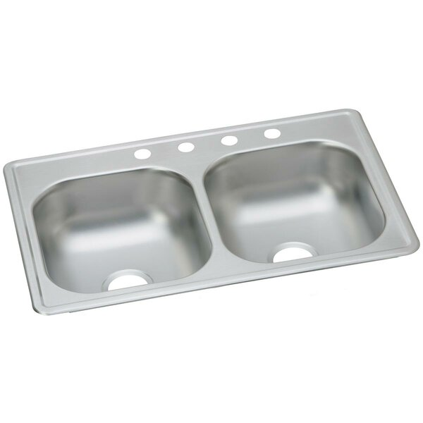 Dayton 33 L x 19 W Double Basin Drop-In Kitchen Sink by Elkay