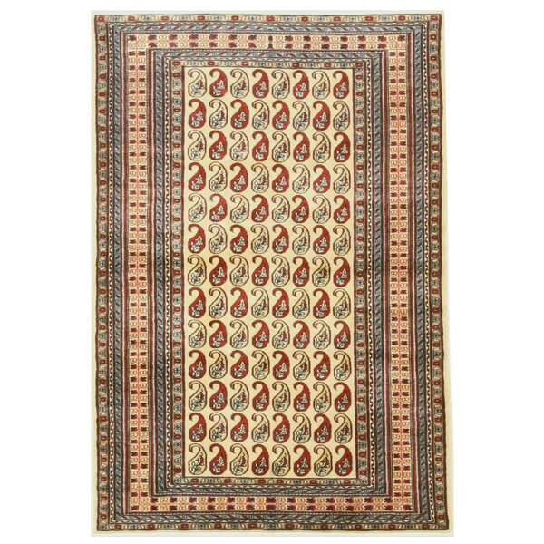 Pak-Pasley Hand-Knotted Beige Area Rug by Eastern Rugs