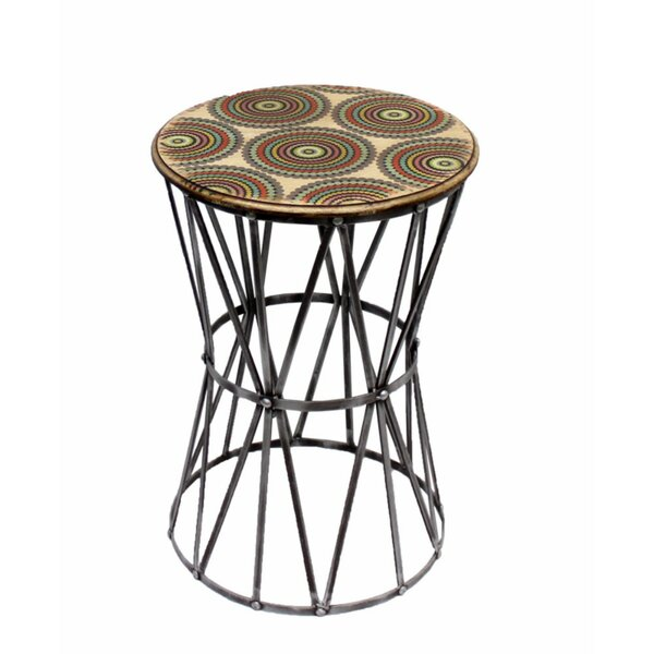 Costantino Graciously Designed Metal End Table by World Menagerie