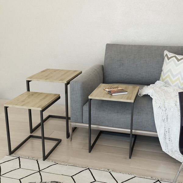 Outdoor Furniture Caelo 3 Piece Nesting Tables