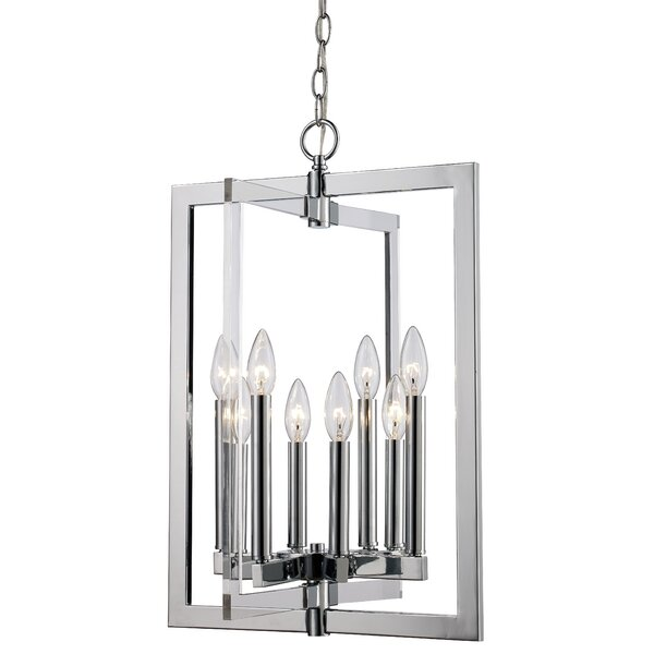 Tabiauea 8-Light Candle Style Rectangle / Square Chandelier By Mercer41