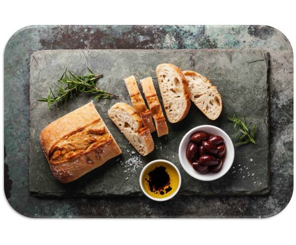 Bread Print Slip-Resistant Foam 19 Placemat (Set of 8) by Dainty Home