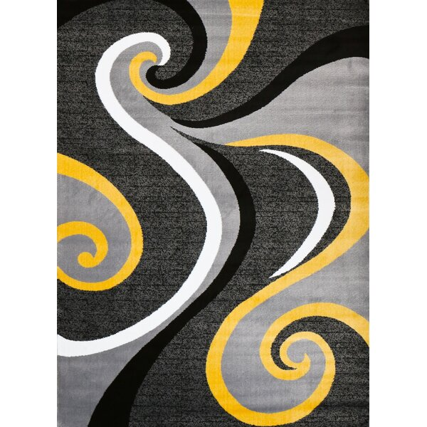 Miya Modern Yellow Area Rug by Zipcode Design