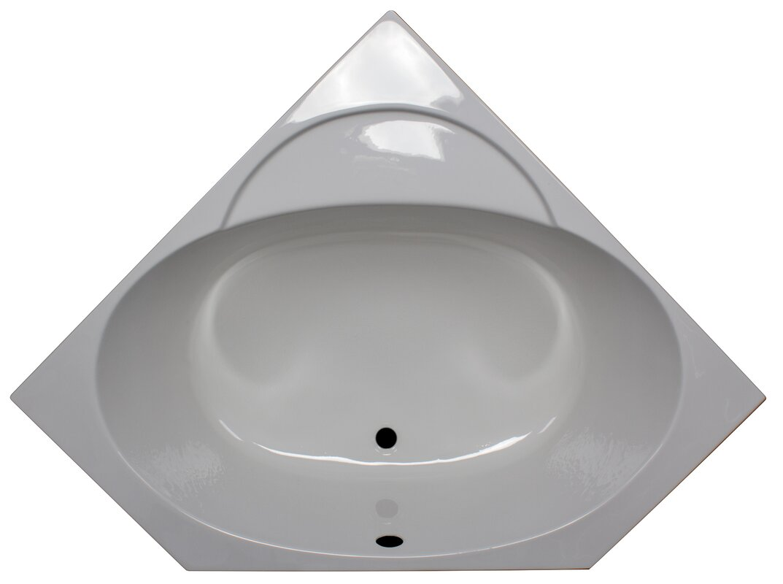 American Acrylic 48 x 48 Soaker Corner Bathtub Reviews Wayfair