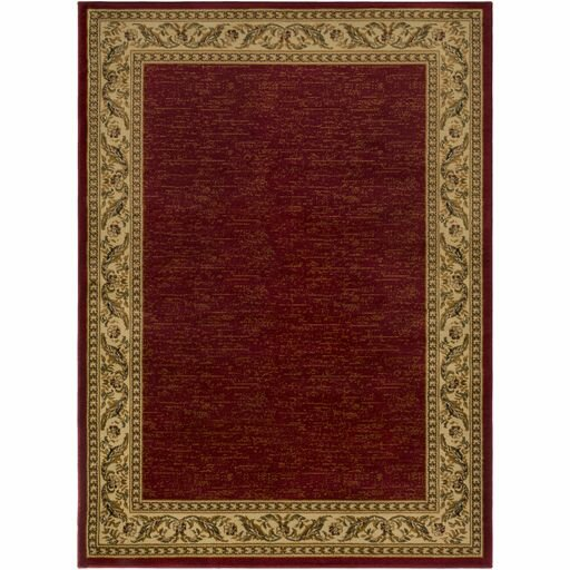Marvin Dark Red/Khaki Area Rug by Charlton Home