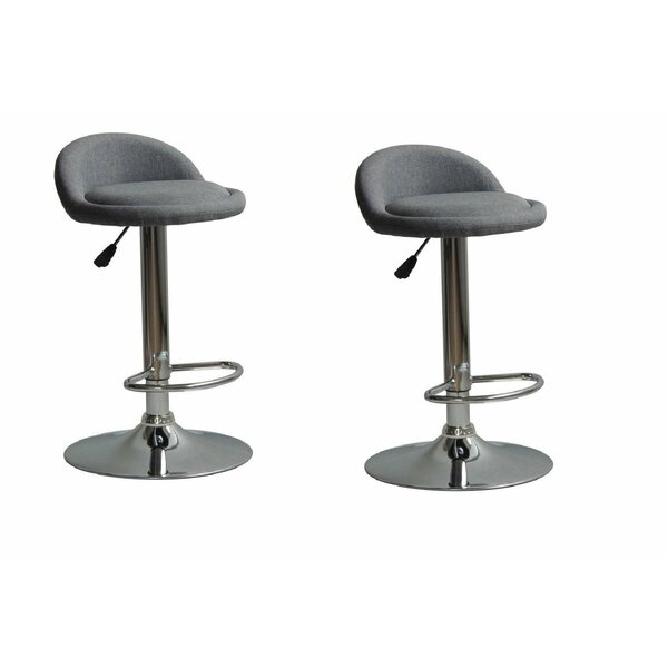 Wilker Adjustable Height Swivel Bar Stool by Ebern Designs