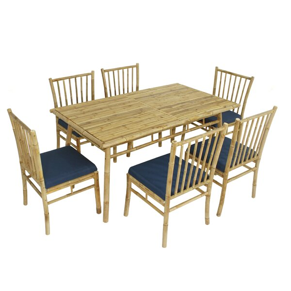 Kridia 7 Piece Dining Set with Cushions by Bay Isle Home