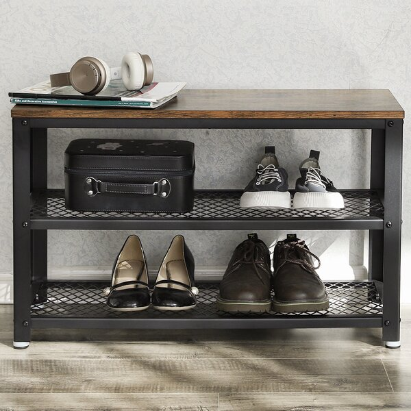 Bryce Shelves Storage Bench By Williston Forge