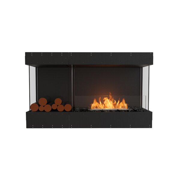 Flex Bay Recessed Wall Mounted Bio-Ethanol Fireplace by EcoSmart Fire