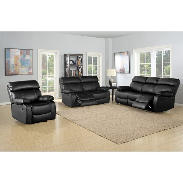 Michela Reclining 3 Piece Living Room Set by Red Barrel Studio