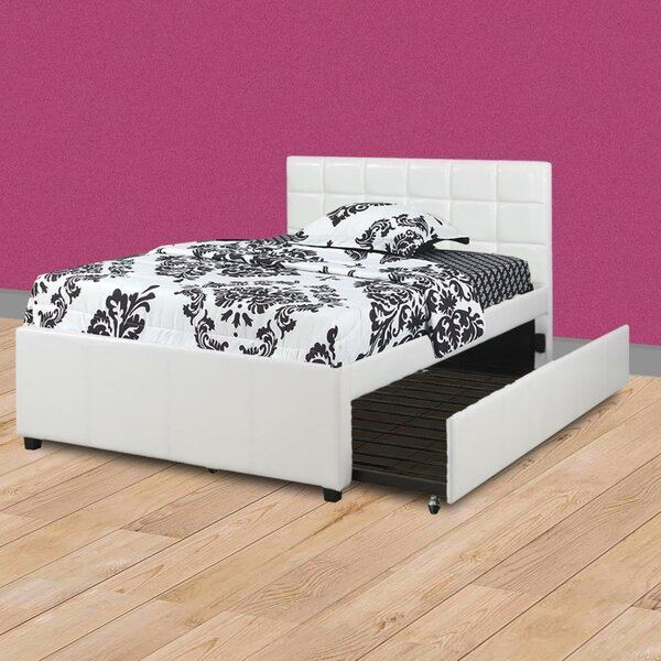 Shekhar Wooden Full Upholstered Standard Bed by Orren Ellis