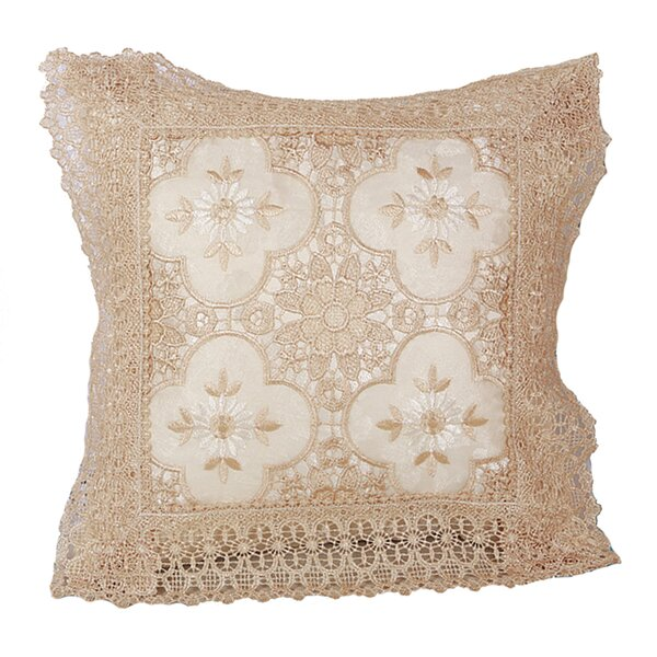 Braided Luxurious Decorative Lace Cutwork Throw pillow by Violet Linen