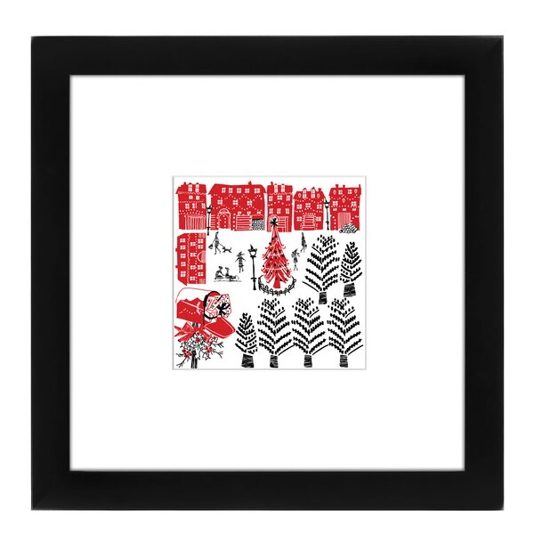 Holiday Scene Framed Graphic Art by East Urban Hom