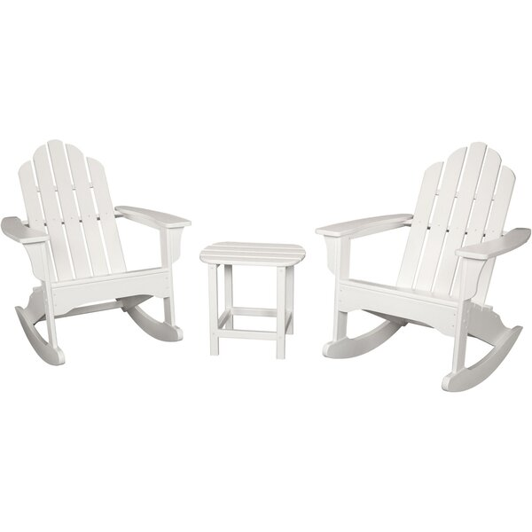 Hillyer Adirondack 3 Piece Conversation Set By Highland Dunes