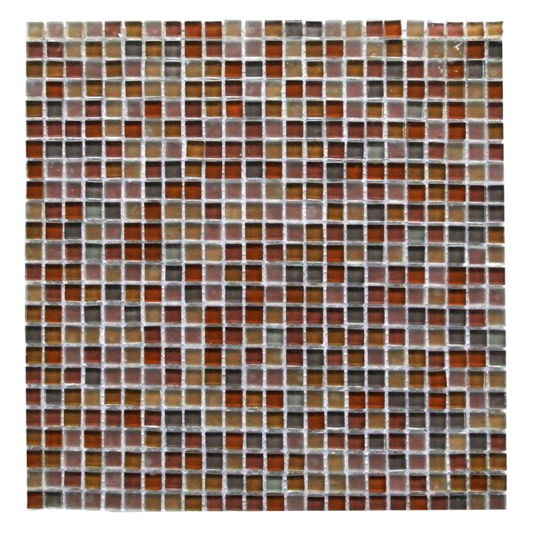 Petite 0.38 x 0.38 Glass Mosaic Tile in Brown by Abolos